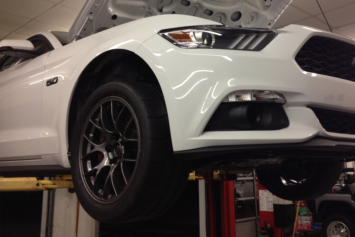 Mustang S550 Wheel Fitment Testing