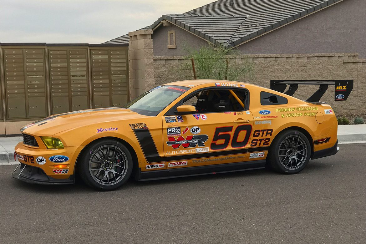 Chris's 2011 Mustang Race Car with EC-7 Track Wheels