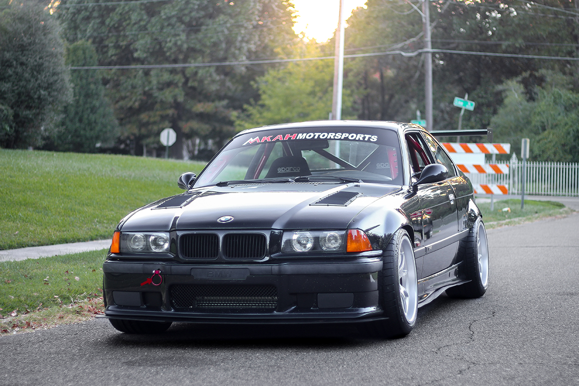 MKAH Motorsports E36 M3 Track Car with FL-5 Wheels