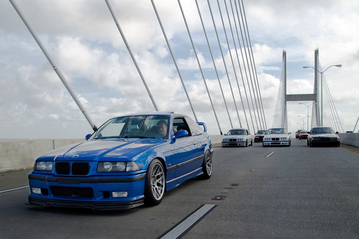 Chandler's Estoril Blue E36 M3 with ARC-8 Wheels