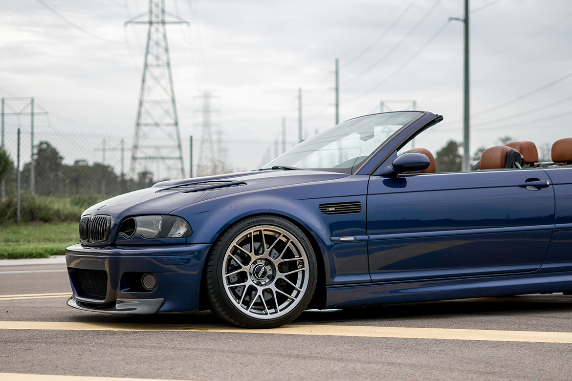 Indy's E46 M3 Convertible with ARC-8 Wheels