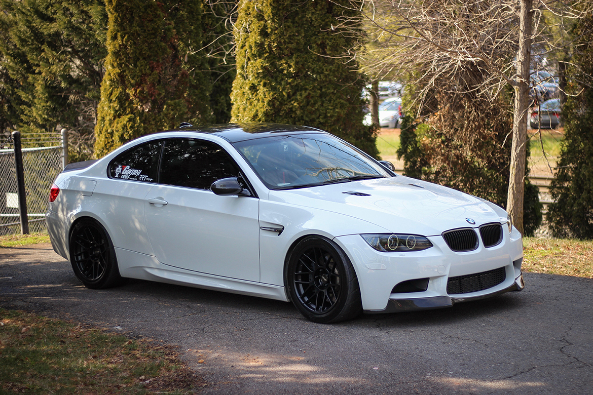 """Andre's Alpine White E92 M3 ZCP with 18"""" ARC-8 Wheels"""