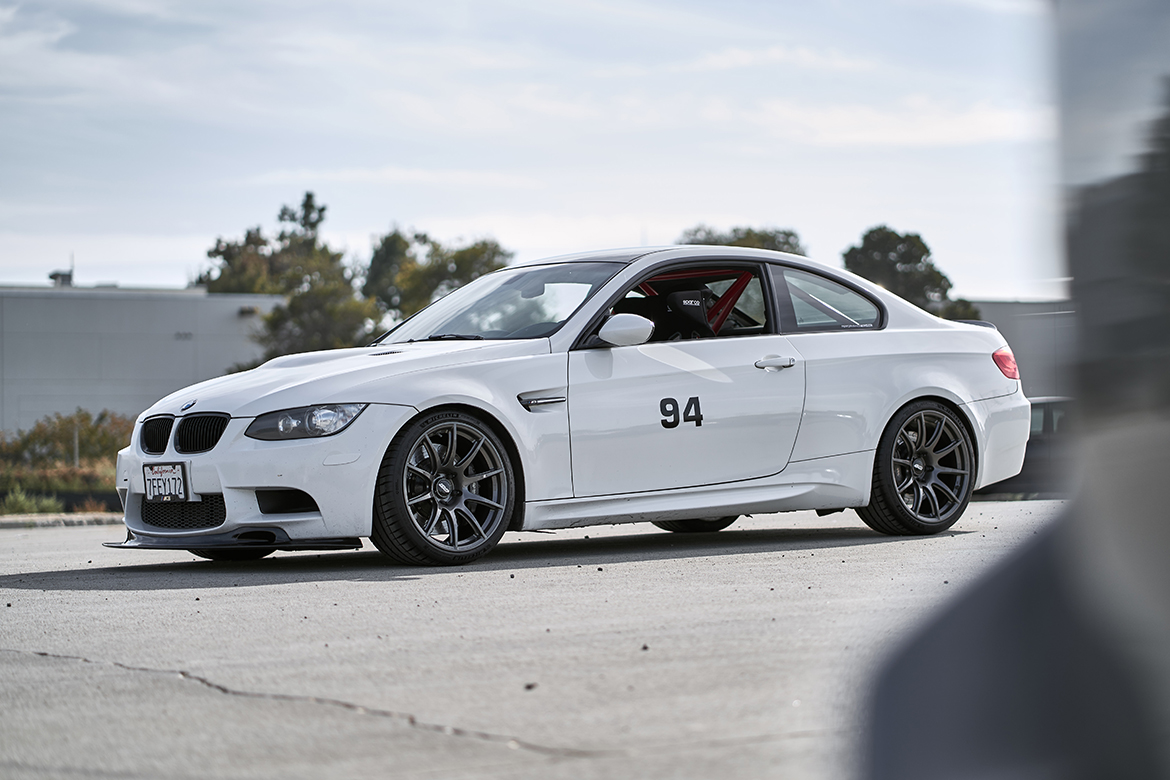 E92 M3 Track Car at Performance Technic with 19″ SM-10 Wheels