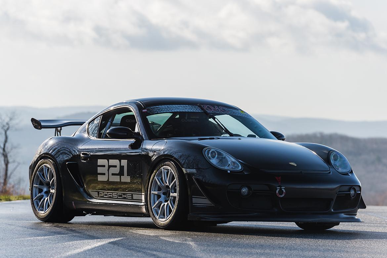 2006 Porsche Cayman S with APEX Track Wheels