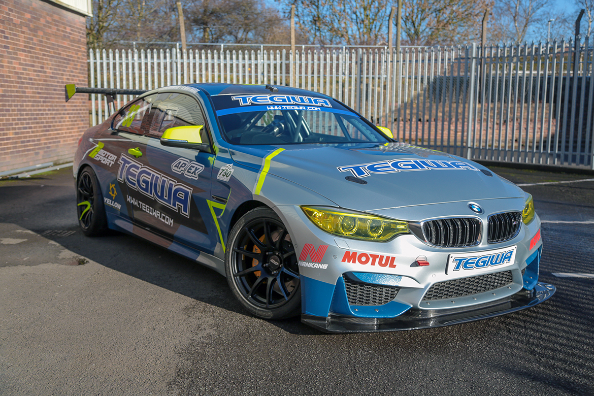 BMW M4 Race Car with APEX Wheels