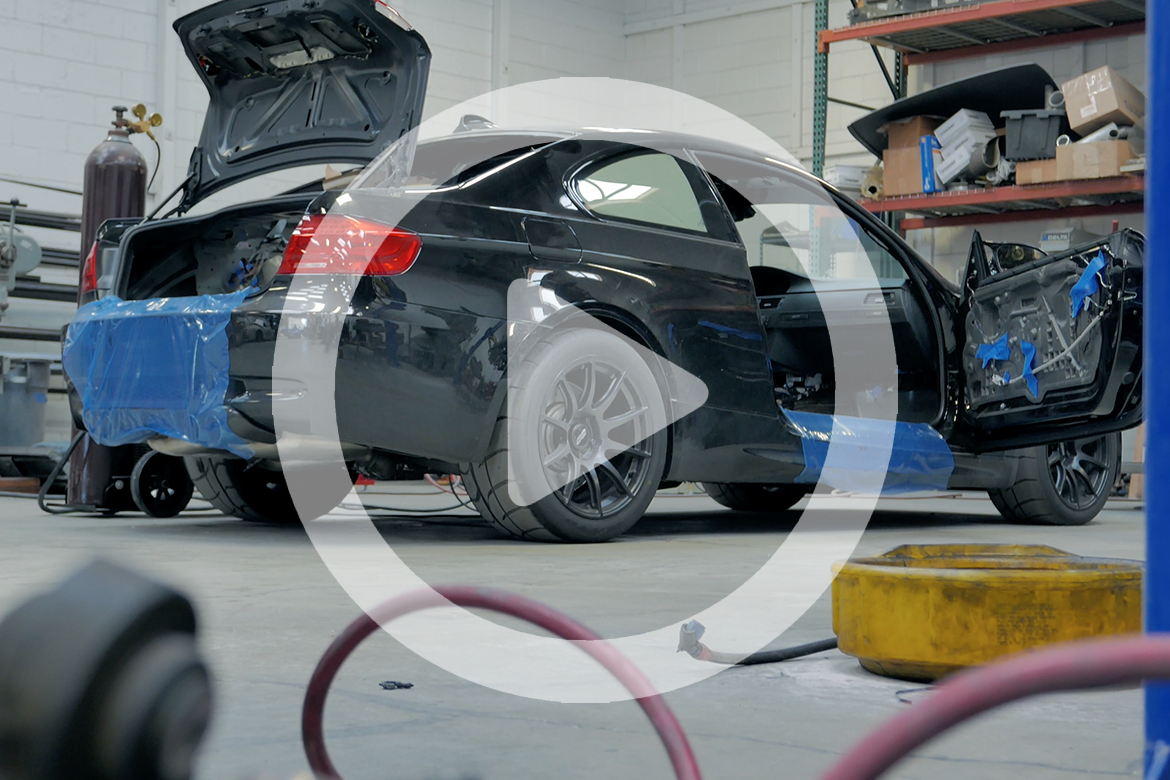 BMW E92 M3 Track Car Roll Cage Installation at TC Design