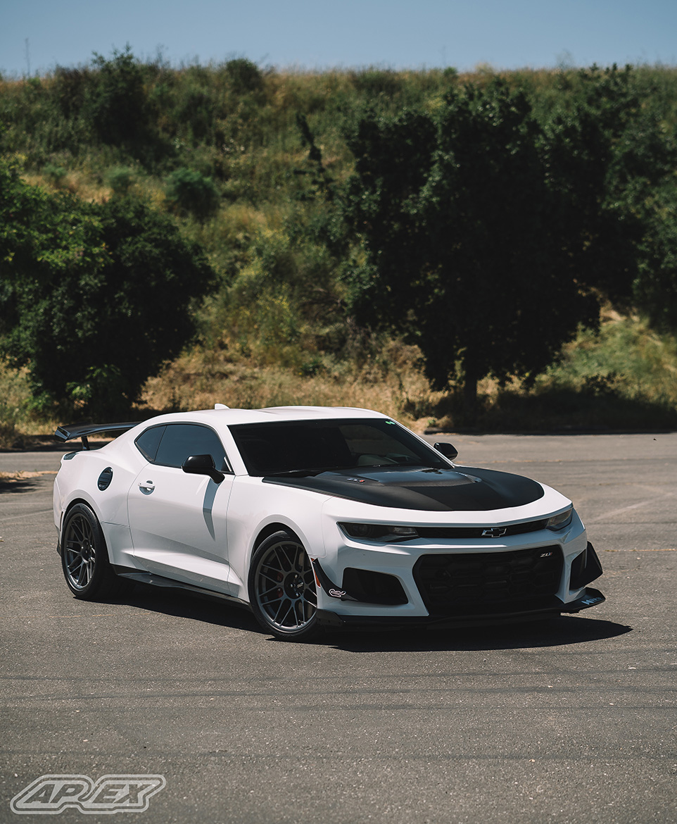 """Chip's Camaro ZL1 1LE Track Car with 19"""" ARC-8 Wheels"""