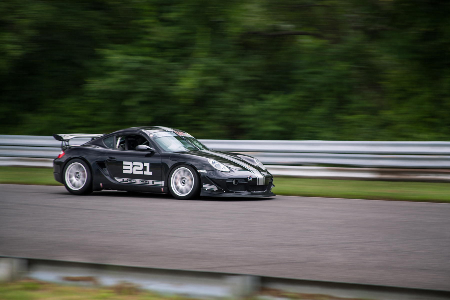 "Porsche Cayman S with 18"" SM-10 Wheels at Lime Rock Park"