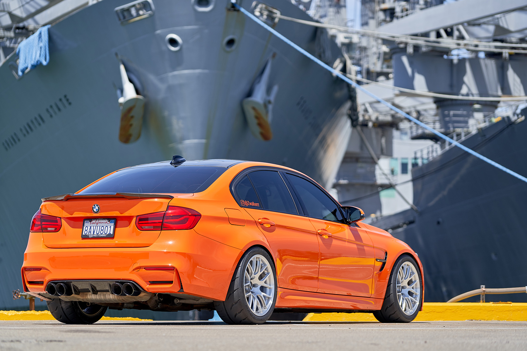 "Fire Orange BMW F80 M3 with 18"" EC-7R Forged Wheels"