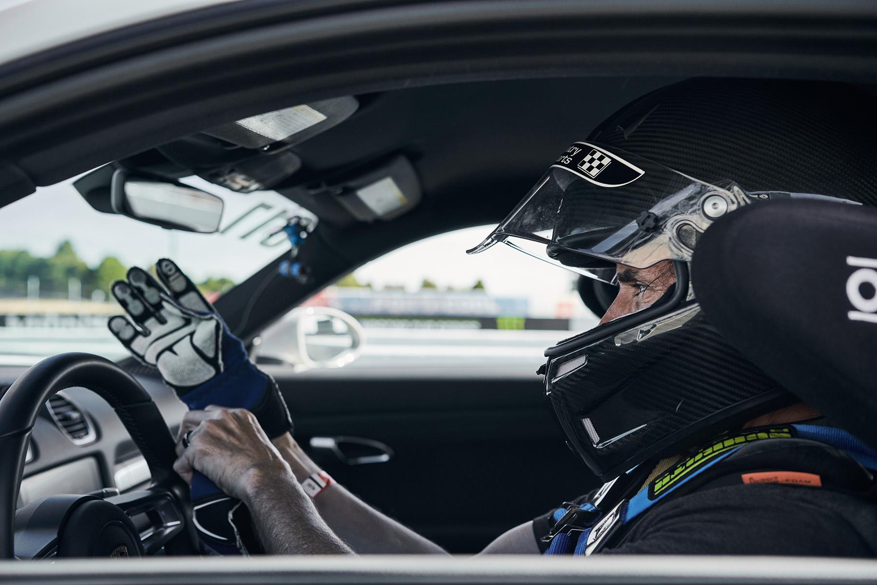 Porsche 718 Cayman S with APEX Wheels at Sonoma Raceway
