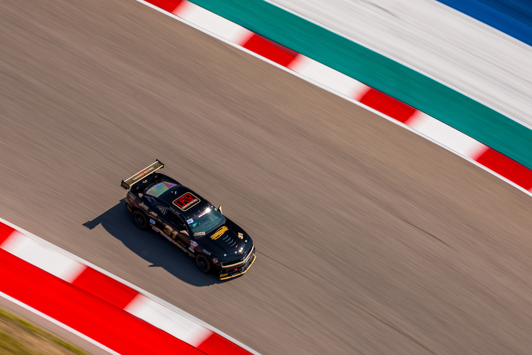 Famous Racing's Chevrolet Camaro Race Car with APEX Wheels at COTA