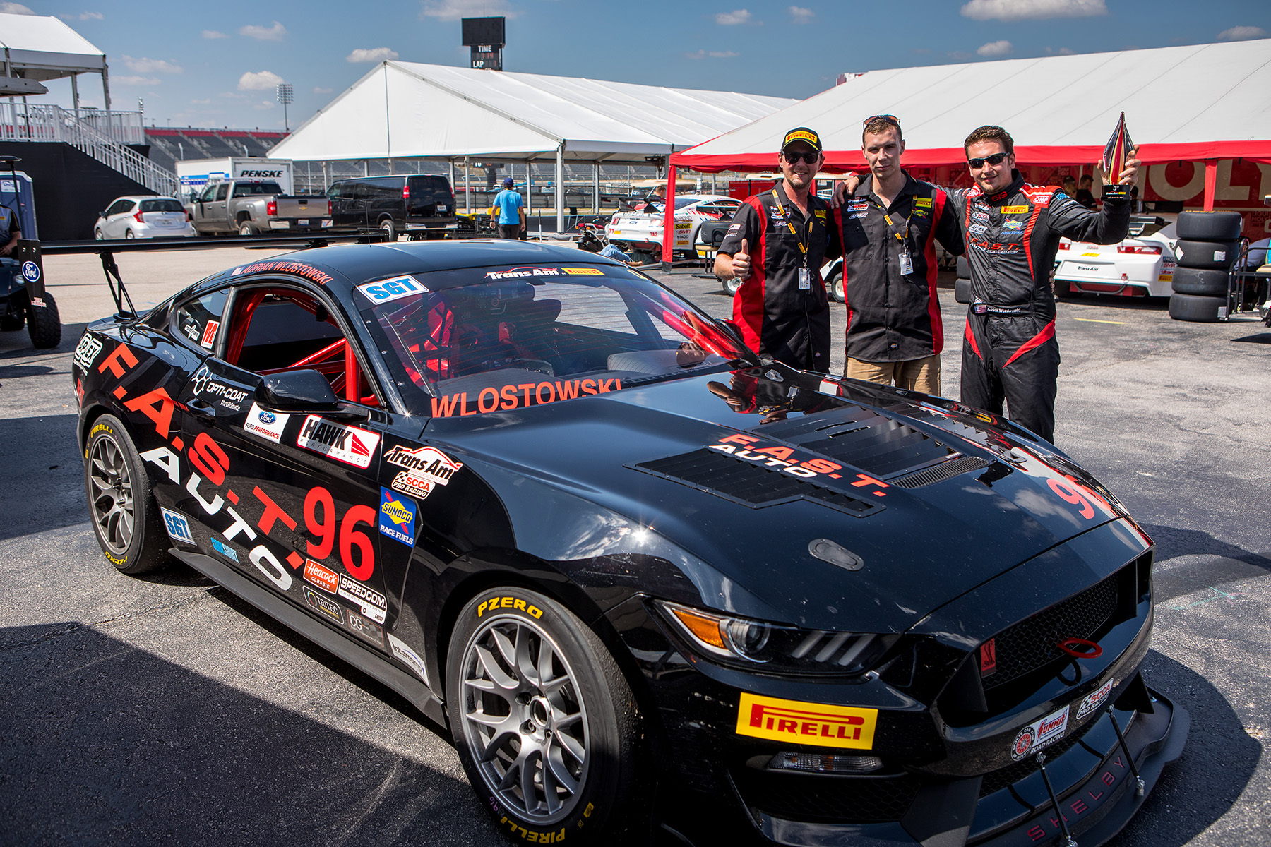 F.A.S.T. Auto Racing Ford Mustang GT350R with APEX Wheels at Circuit of the Americas