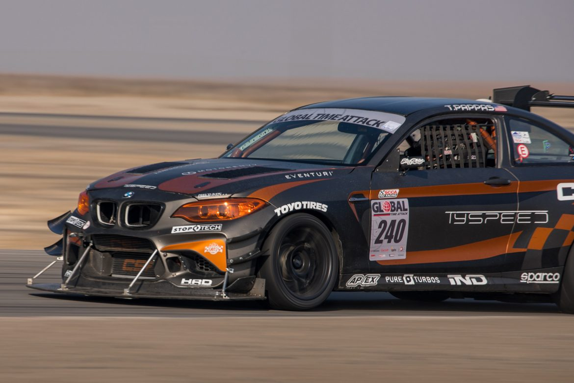 Tyspeed BMW M2 Race Car at Buttonwillow Raceway for Global Time Attack Event