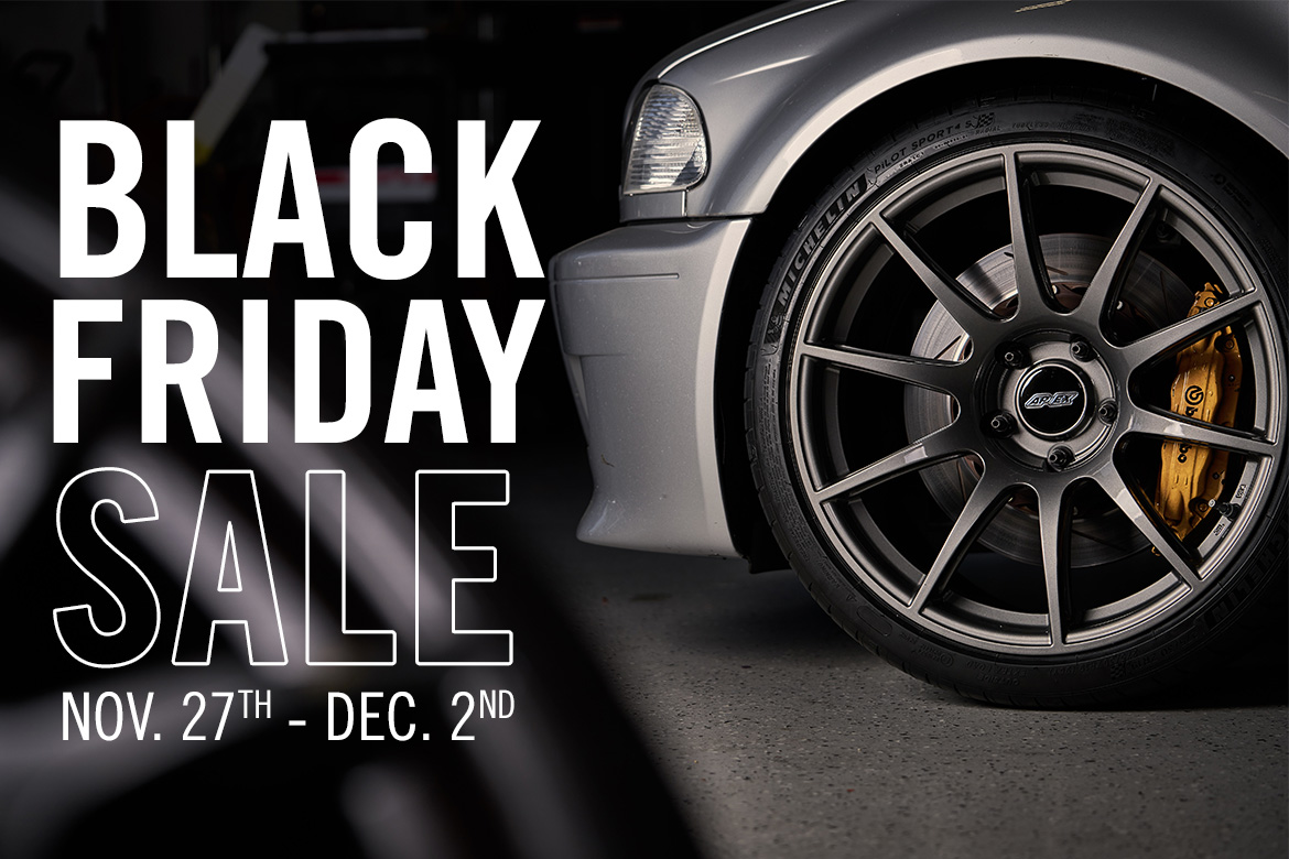 Black Friday and Cyber Monday Sale at APEX Race Parts