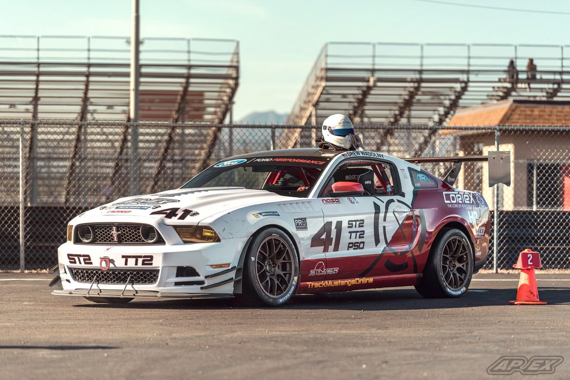 Boss 302 Race Car featuring EC-7 Wheels at Wild Horse Pass Motorsports Park