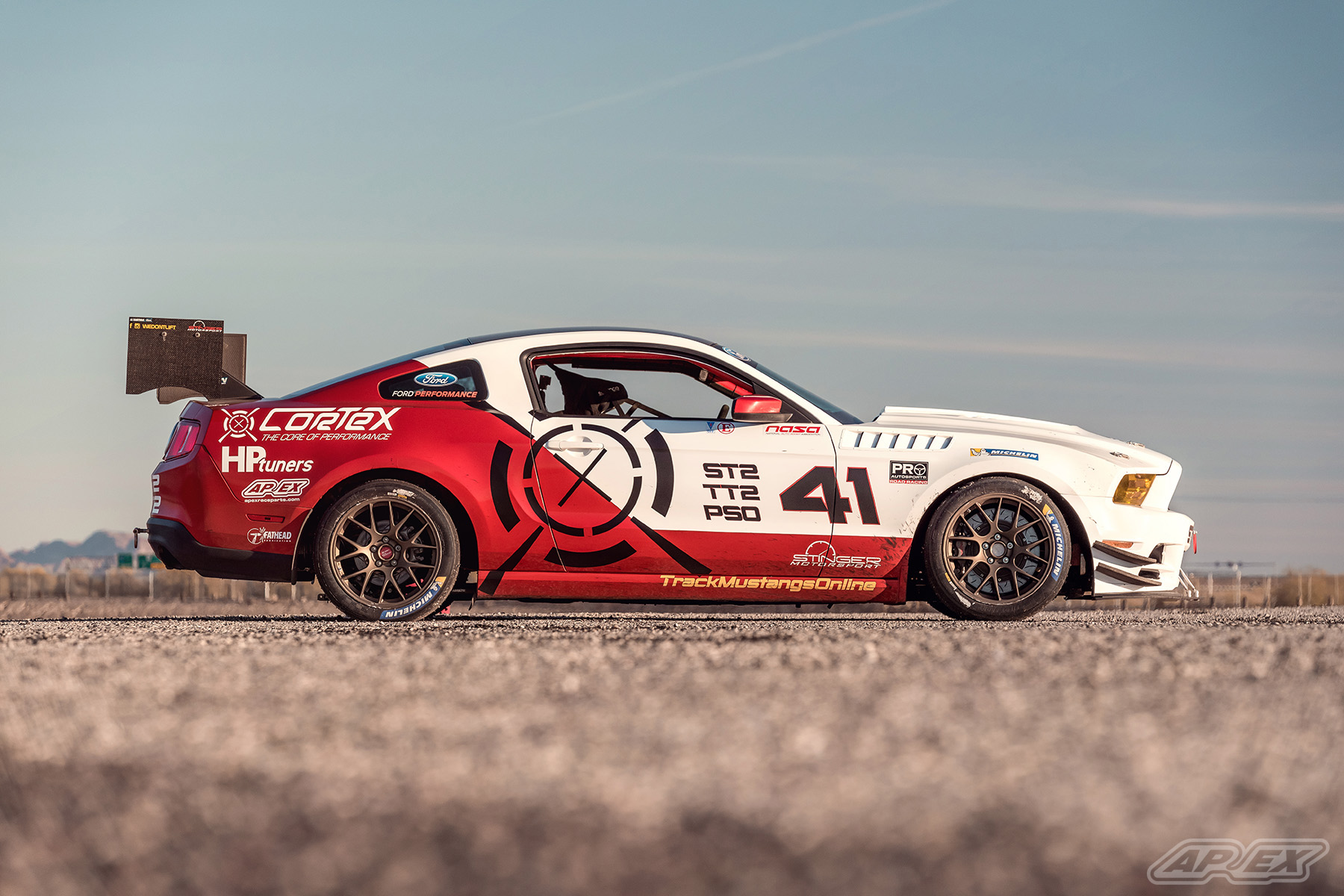 "Drew Wadolny's Ford Mustang Race Car with 18"" EC-7 Wheels"