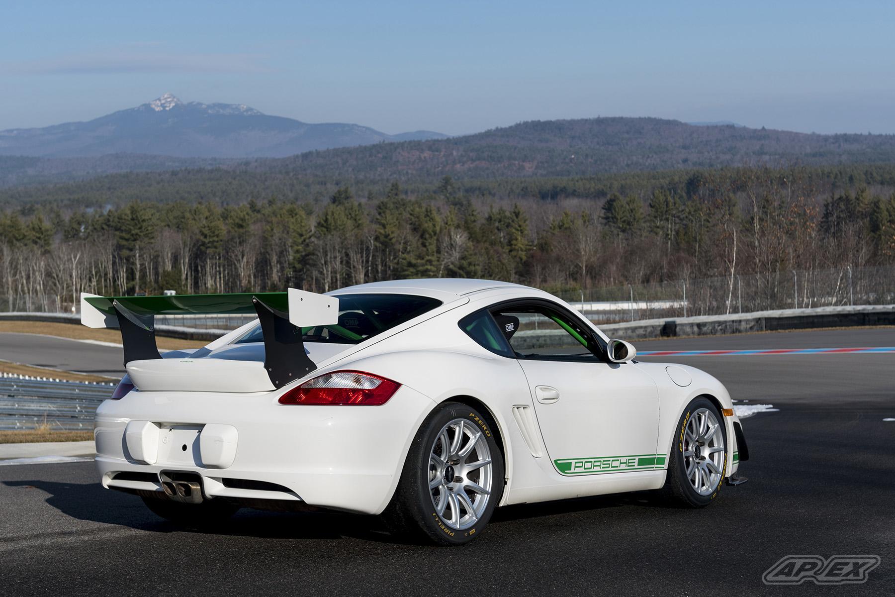Kachel Motor Company Porsche 987 Cayman Race Car with APEX SM-10 Wheels