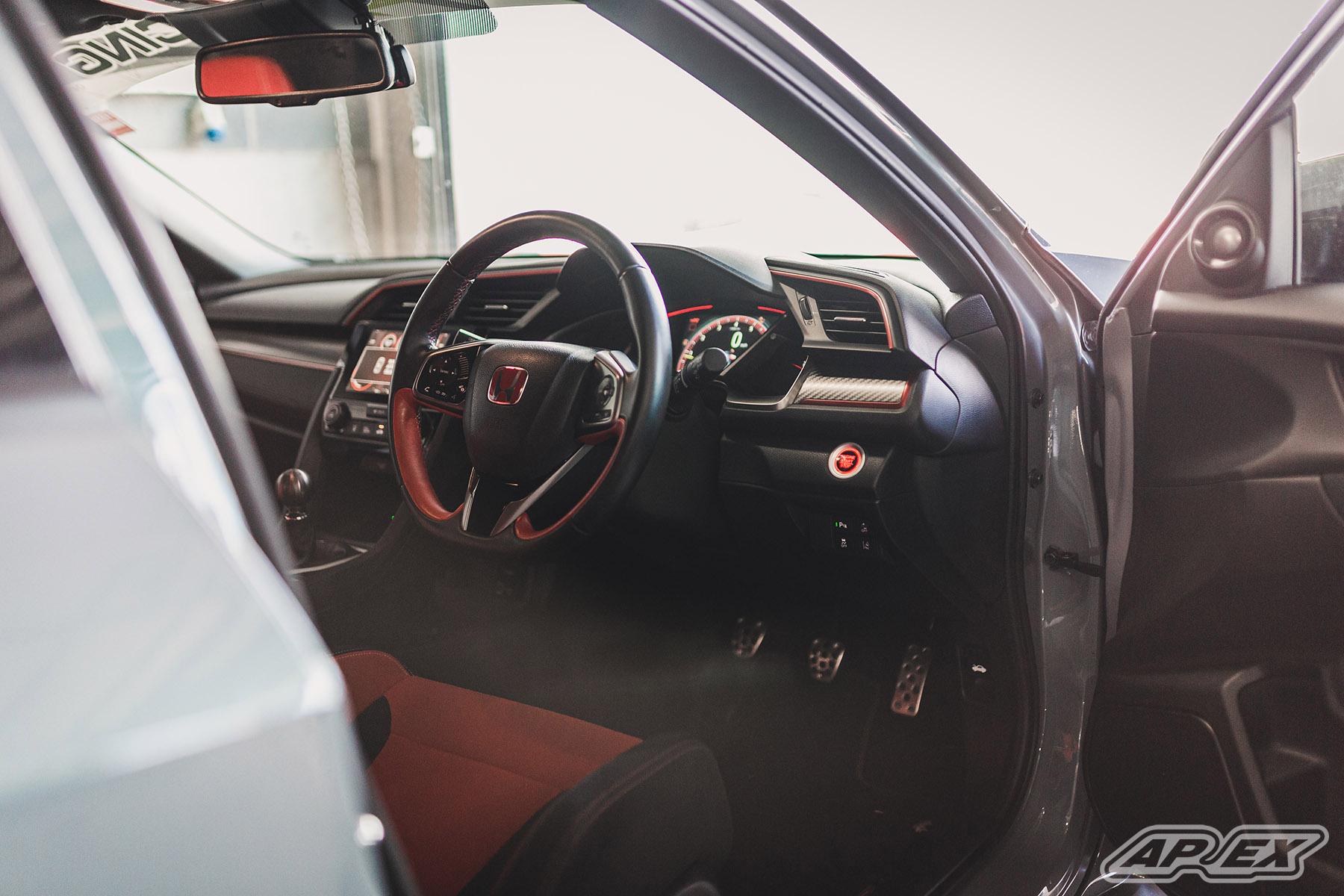 Honda Civic Type R on Lightweight APEX Wheels