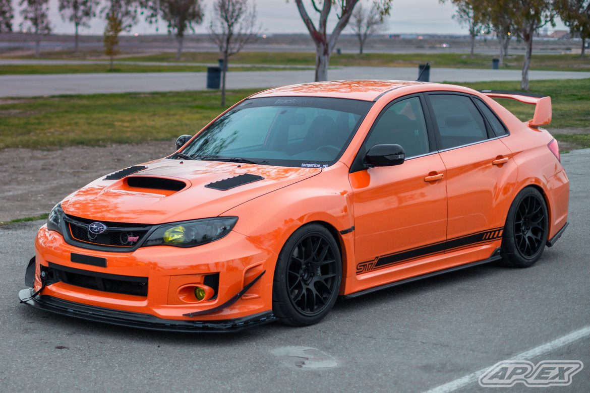 Subaru WRX STI on EC-7 Wheels at Buttonwillow Raceway