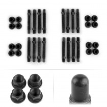 APEX 75mm M12 BMW 4 Lug Bullet Nose Stud Kit - Black