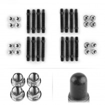 APEX 90mm M12 BMW 4 Lug Bullet Nose Stud Kit - Silver
