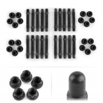 APEX 90mm M12 BMW 5 Lug Bullet Nose Stud Kit - Black