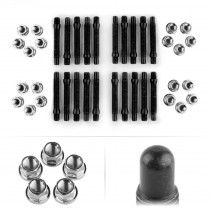 APEX 90mm M12 BMW 5 Lug Bullet Nose Stud Kit - Silver
