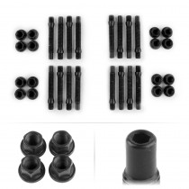 APEX 90mm M12 BMW 4 Lug Hex Head Stud Kit - Black
