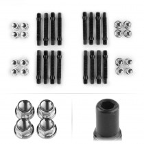 APEX 90mm M12 BMW 4 Lug Hex Head Stud Kit - Silver