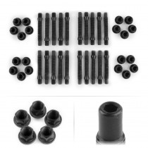 APEX 75mm M12 BMW 5 Lug Hex Head Stud Kit - Black