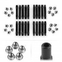 APEX 90mm M12 BMW 5 Lug Hex Head Stud Kit - Silver