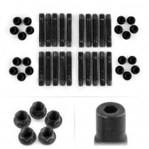 APEX 90mm M14 BMW 5 Lug Hex Head Stud Kit - Black