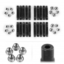 APEX 90mm M14 BMW 5 Lug Hex Head Stud Kit - Silver